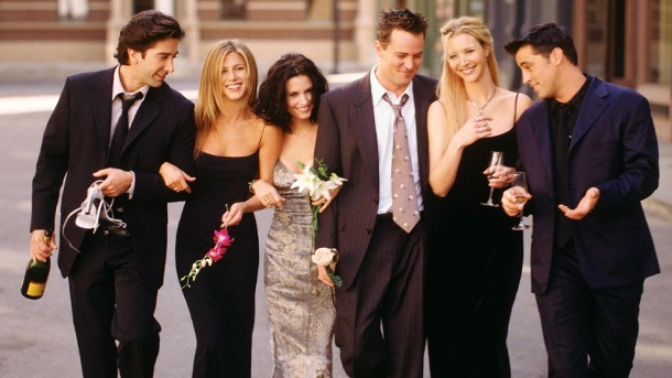 """Friends""-Projekt geplant – und so könnte es aussehen. Die Stars aus ""Friends"": Ross (David Schwimmer), Rachel (Jennifer Aniston), Monica (Courteney Cox), Chandler (Matthew Perry), Phoebe (Lisa Kudrow) und Joey (Matt LeBlanc). (Quelle: Getty Images/Warner Bros. Television)"