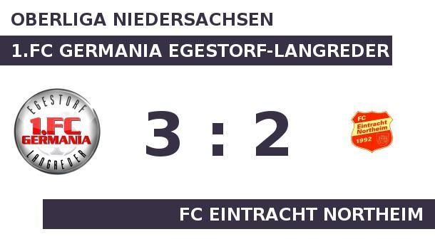 1.FC Germania Egestorf-Langreder gegen FC Eintracht Northeim: Eintracht Northeim verlangt Germania a. Eintracht Northeim verlangt Germania alles ab (Quelle: Sportplatz Media)