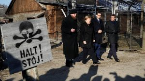German Chancellor Angela Merkel and Polish Prime Minister Mateusz Morawiecki visit the Auschwitz-Birkenau memorial and museum