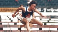 Karin Balzer DDR Aktion Hürde Aufn 09 1971 *** Karin Balzer GDR action hurdle on the 09 1971 HM