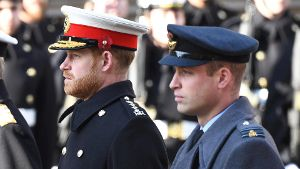 Armistice Day 2019 The Duke of Sussex and The Duke of Cambridge attending the National Service of Remembrance at the Cen
