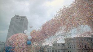 1986: Als eine Ballon-Wolke für Chaos in Cleveland sorgte (Quelle: Getty Images/Bettmann)