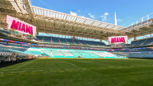 Austragungsort: Das Hard Rock Stadium in Miami. (Quelle: imago images)