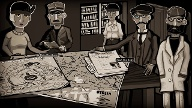 "Am Kartentisch werden in ""Through the Darkest of Times"" die Lage sondiert und Aktionen geplant. (Quelle: dpa/Paintbucket Games)"