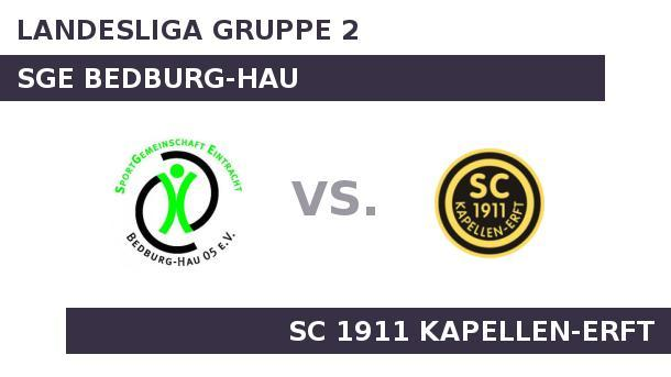 SGE Bedburg-Hau gegen SC 1911 Kapellen-Erft: In der Fremde top. In der Fremde top (Quelle: Sportplatz Media)
