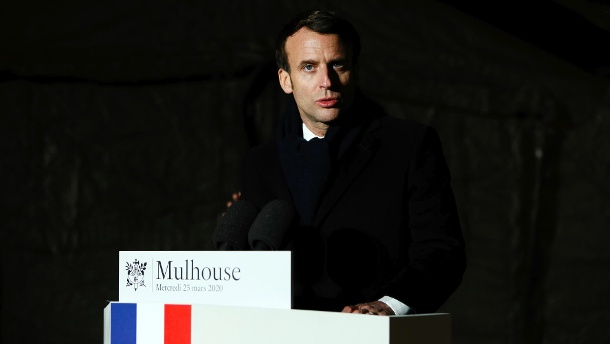Emmanuel Macron has announced a military operation to support the population in the fight against the coronavirus crisis. (Source: dpa)