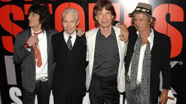 Rolling Stones drohen Donald Trump mit Klage – er spielte ihre Songs  . The Rolling Stones: Ronnie Wood, Charlie Watts, Mick Jagger und Keith Richards. (Quelle: imago images / Everett Collection)