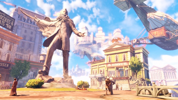 """Deceptive idyll: The setting for """"Bioshock Infinite"""" is the floating city of Columbia, which is only a paradise at first glance.  (Source: dpa / 2K Games)"""
