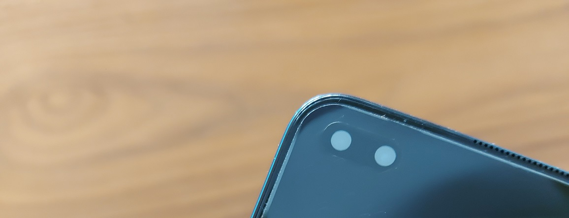 The OnePlus Nord has two lenses at the front.