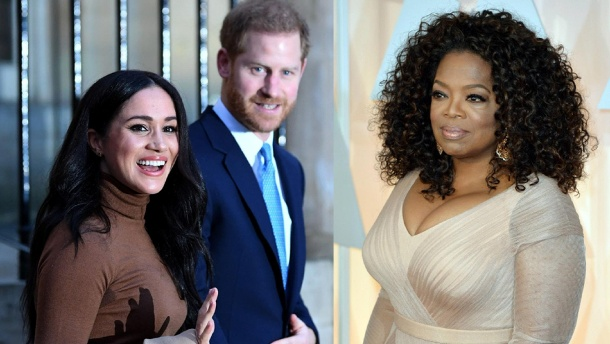 Royals: Harry und Meghan geben Oprah Winfrey ein Interview. Seltenes Gespräch: Meghan und Harry geben Oprah Winfrey ein Interview. (Quelle: imago images / Getty Images)