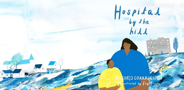 """""""Hospital by the hill"""": Fay Troote hat das Cover des Kinderbuchs entworfen. (Quelle: Fay Troote)"""