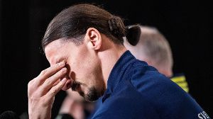 210322 Zlatan Ibrahimovic of the Swedish national football team during a press conference, PK, Pressekonferenz on March