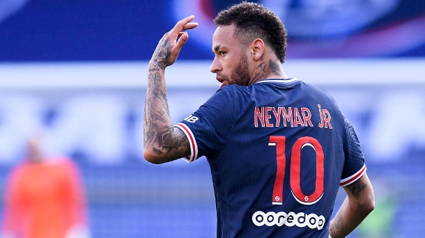 COLERE - 10 NEYMAR JR (PSG) - DOS FOOTBALL : Paris SG vs Lille - Ligue 1 Uber Eats - 03/04/2021 FEP/Panoramic PUBLICATIO (Quelle: IMAGO / Bildbyran)
