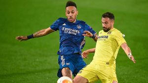 Mandatory Credit: Photo by Bagu Blanco/BPI/Shutterstock (11882332cq) Pierre-Emerick Aubameyang of Arsenal FC and Mario G (Quelle: imago images/Shutterstock)