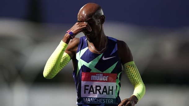 Olympia 2021   Schock: Olympiasieger Mo Farah verpasst Tokio-Qualifikation. Lief in Manchester an der Olympia-Norm vorbei: Mo Farah.  (Quelle: dpa)