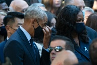Barack Obama and his wife Michelle were also guests at the memorial ceremony.  (Source: AP / dpa / John Minchillo)